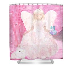 Pretty In Pink Shower Curtain by Amelia Carrie