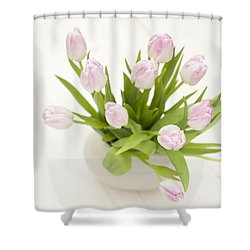 Pretty In Pink Shower Curtain by Anne Gilbert