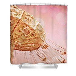 Carnival - Pretty In Pink Shower Curtain by Colleen Kammerer