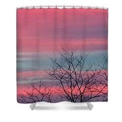 Pretty In Pink Sunrise Shower Curtain