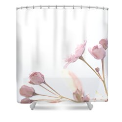 Pretty In Pink - The Dreamer Shower Curtain by Lisa Parrish
