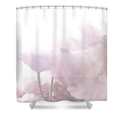 Pretty In Pink - The Whisper Shower Curtain by Lisa Parrish