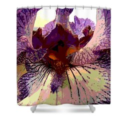 Pretty In Purple Shower Curtain by Sally Simon