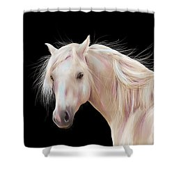 Pretty Palomino Pony Painting Shower Curtain