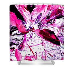 Pretty Pink Weeds 5 Shower Curtain