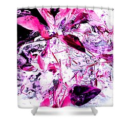 Pretty Pink Weeds 6 Shower Curtain