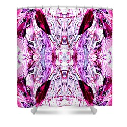 Pretty Pink Weeds Abstract  2 Shower Curtain