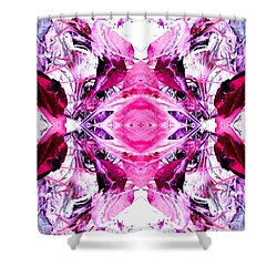 Pretty Pink Weeds Abstract  3 Shower Curtain