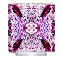 Pretty Pink Weeds Abstract  4 Shower Curtain