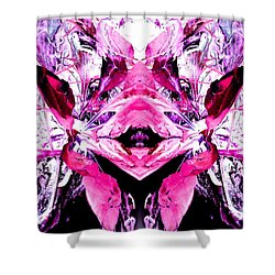 Shower Curtain featuring the photograph Pretty Pink Weeds Abstract  5 by Marianne Dow