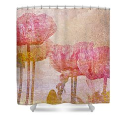 Pretty Poppy Garden Shower Curtain