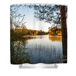 Pretty Spring Evening At The Lake Shower Curtain