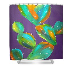 Prickly Pear Abstract Shower Curtain