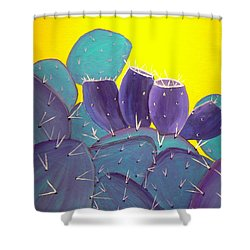 Prickly Pear With Fruit Shower Curtain