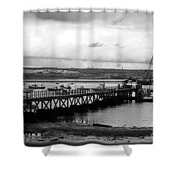 Priddy's Hard Jetty Shower Curtain by Terri Waters
