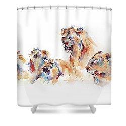 Pride Of Samburu Shower Curtain by Stephie Butler
