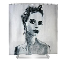 Shower Curtain featuring the painting Primadonna by Jarmo Korhonen aka Jarko