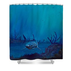 Primal Beauty Shower Curtain by C Steele