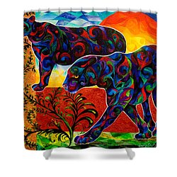 Primal Dance Shower Curtain