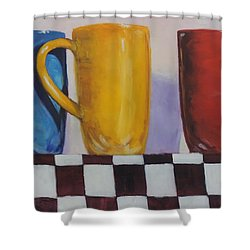 Primarily Coffee Shower Curtain