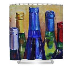 Primarily Wine Shower Curtain by Donna Tuten