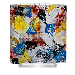 Shower Curtain featuring the painting Primary Plus by Heidi Smith
