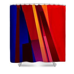 Primary Skyscrappers Shower Curtain by James Kramer