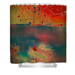 Shower Curtain featuring the painting Primordial by Jacqueline McReynolds
