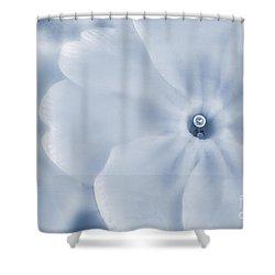 Primrose Cyanotype Shower Curtain by John Edwards