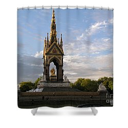 Shower Curtain featuring the photograph Prince Albert Memorial by Bev Conover