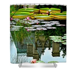 Prince Charmings Lily Pond Shower Curtain by Frozen in Time Fine Art Photography
