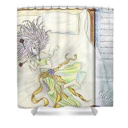 Princess Altiana Aka Rokeisha Shower Curtain by Shawn Dall