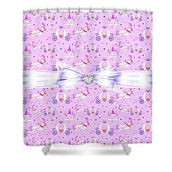 Princess Celebration Shower Curtain by Debra  Miller