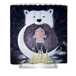 Princess Moon Shower Curtain