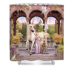 Princess Of The Unicorns Variant 1 Shower Curtain by Garry Walton