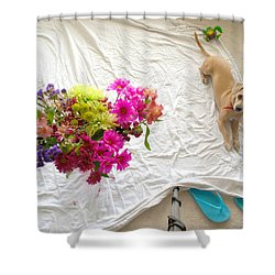 Shower Curtain featuring the photograph Princess On Assignment by Angela J Wright