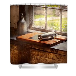 Printer - A Hope And A Brayer Shower Curtain by Mike Savad