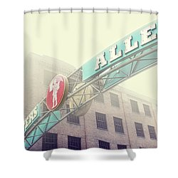 Printers Alley Shower Curtain by Amy Tyler
