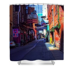 Printers Alley Nashville Tennessee Shower Curtain by Dan Sproul
