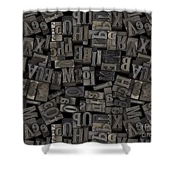 Printing Letters 2 Shower Curtain by Bedros Awak