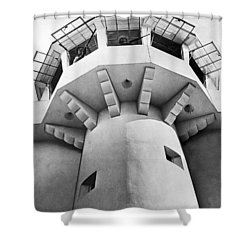 Prison Guard Tower Shower Curtain by Underwood Archives