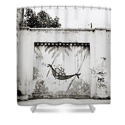 Prison Mural Shower Curtain by Shaun Higson