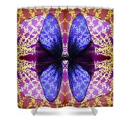 Shower Curtain featuring the digital art Prisoner Butterflies by Rosa Cobos