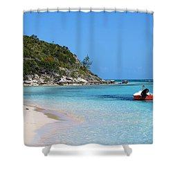 Private Beach Bahamas Shower Curtain