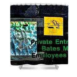 Private Entrance Shower Curtain by Bob Orsillo