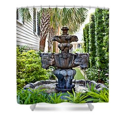 Shower Curtain featuring the photograph Private Fountain by Jean Haynes