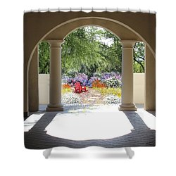 Private Garden Shower Curtain by Kume Bryant