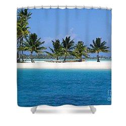 Private Motu Bora Bora Shower Curtain by Camilla Brattemark