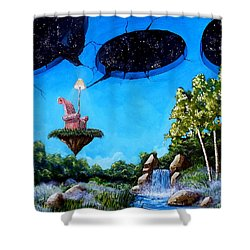 Private Space... Shower Curtain by Mariusz Zawadzki