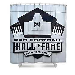 Pro Football Hall Of Fame Shower Curtain by Frozen in Time Fine Art Photography